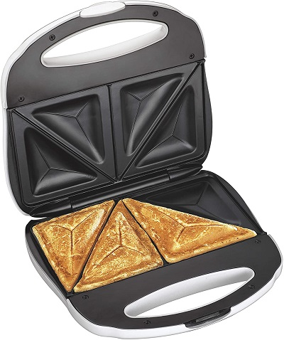 Proctor Silex Sandwich Toaster, Omelet And Turnover Maker, White